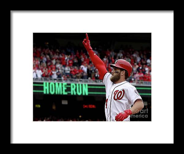People Framed Print featuring the photograph Bryce Harper by Win Mcnamee