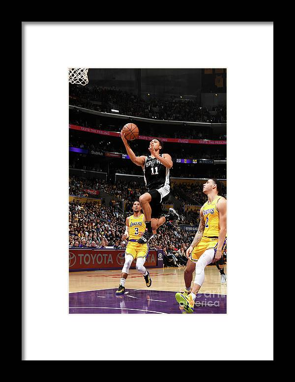 Nba Pro Basketball Framed Print featuring the photograph Bryn Forbes by Andrew D. Bernstein