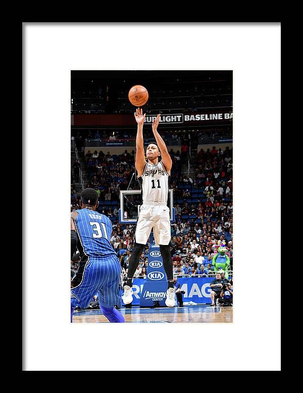 Nba Pro Basketball Framed Print featuring the photograph Bryn Forbes by Fernando Medina