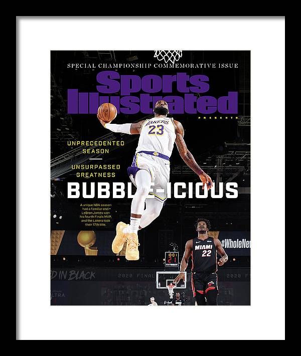 Nba Framed Print featuring the photograph Bubble-icious Los Angeles Lakers NBA Championship Sports Illustrated Cover by Sports Illustrated