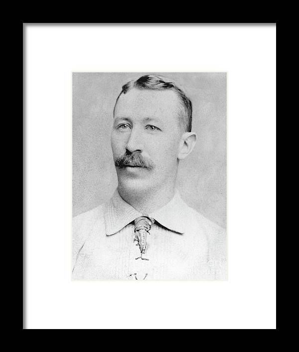 1880-1889 Framed Print featuring the photograph Buck Ewing by National Baseball Hall Of Fame Library