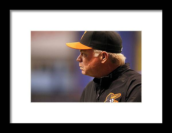 American League Baseball Framed Print featuring the photograph Buck Showalter by Brian Blanco