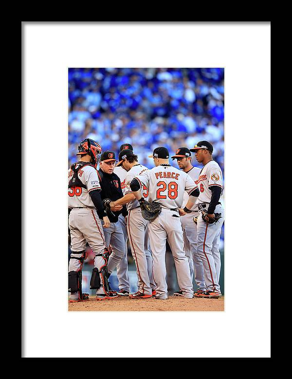 American League Baseball Framed Print featuring the photograph Buck Showalter by Jamie Squire
