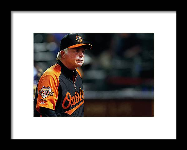 American League Baseball Framed Print featuring the photograph Buck Showalter by Tom Pennington