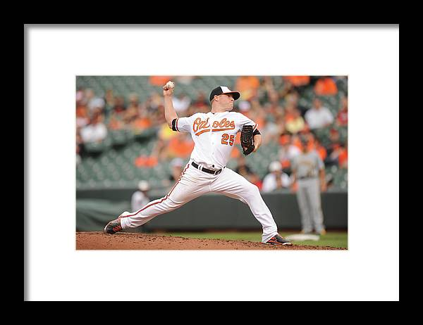 Second Inning Framed Print featuring the photograph Bud Norris by Mitchell Layton
