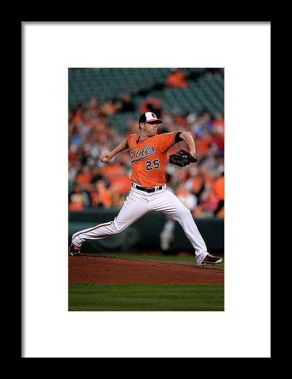 Working Framed Print featuring the photograph Bud Norris by Patrick Smith