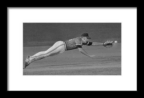 American League Baseball Framed Print featuring the photograph Buddy Bell by Ronald C. Modra/sports Imagery
