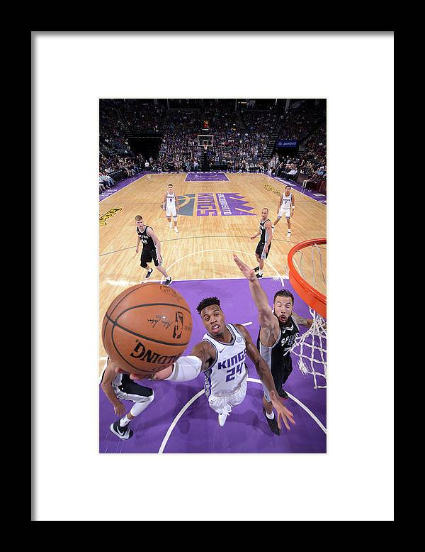 Nba Pro Basketball Framed Print featuring the photograph Buddy Hield and Joffrey Lauvergne by Rocky Widner