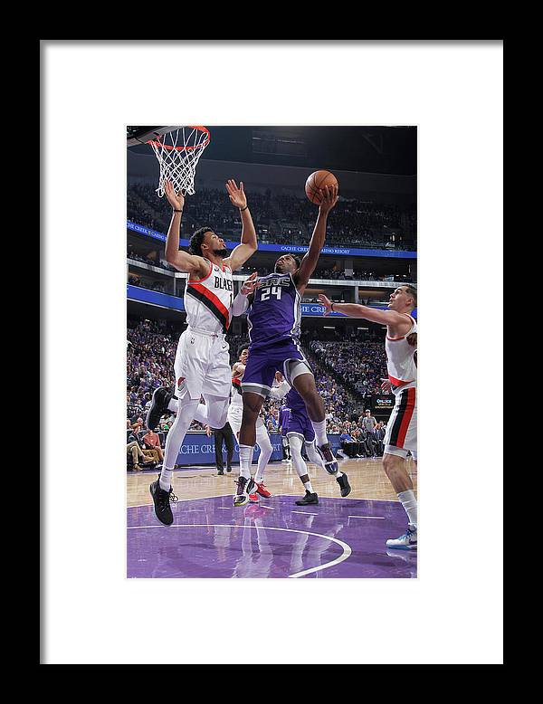 Nba Pro Basketball Framed Print featuring the photograph Buddy Hield and Skal Labissiere by Rocky Widner