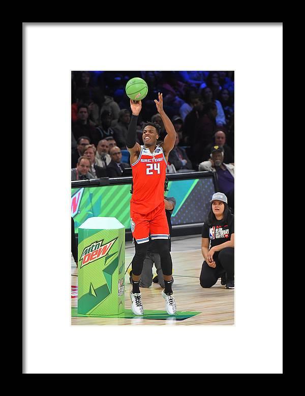 Nba Pro Basketball Framed Print featuring the photograph Buddy Hield by Bill Baptist