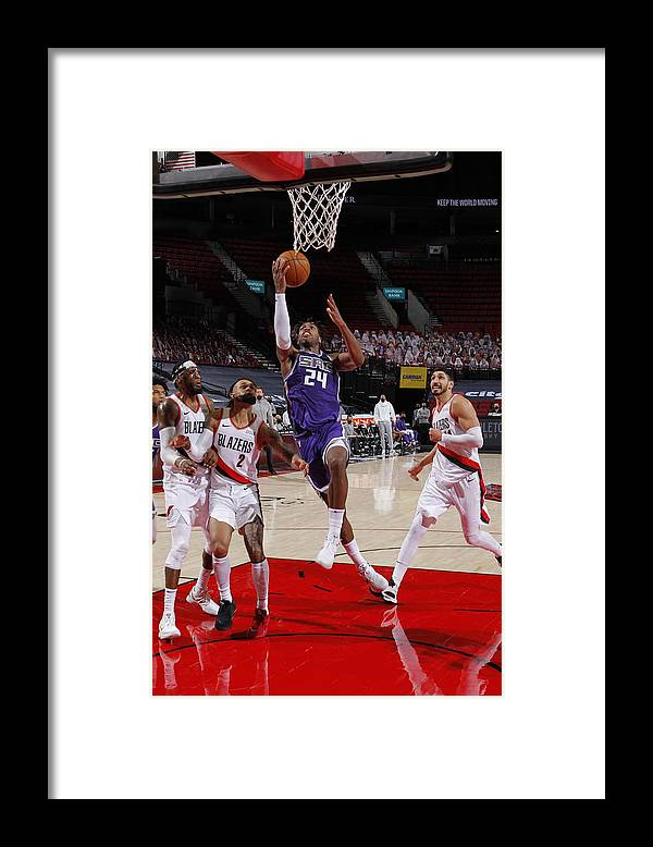 Nba Pro Basketball Framed Print featuring the photograph Buddy Hield by Cameron Browne