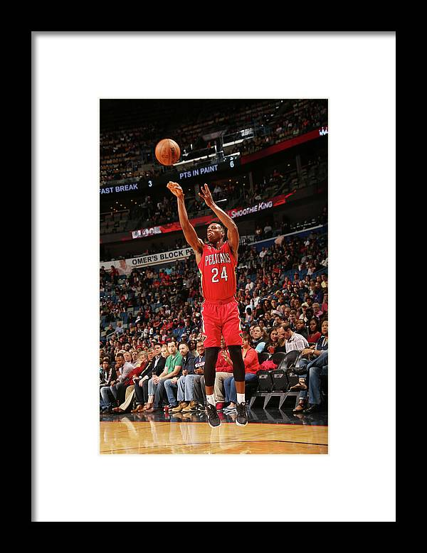 Smoothie King Center Framed Print featuring the photograph Buddy Hield by Layne Murdoch