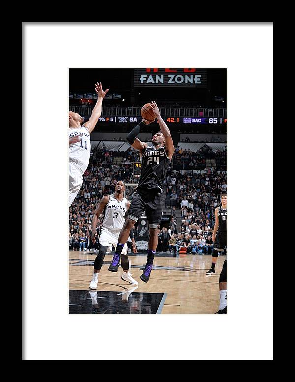 Nba Pro Basketball Framed Print featuring the photograph Buddy Hield by Mark Sobhani