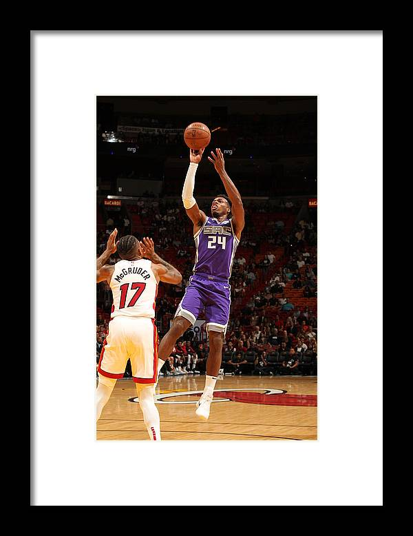 Nba Pro Basketball Framed Print featuring the photograph Buddy Hield by Oscar Baldizon
