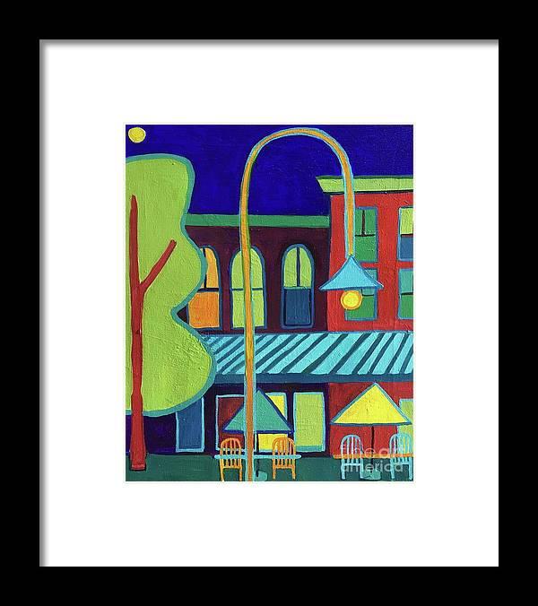 Vermont Framed Print featuring the painting Burlington VT street scene by Debra Bretton Robinson