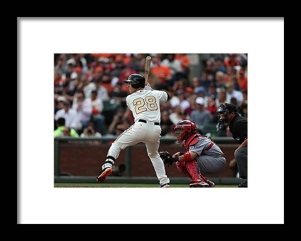 San Francisco Framed Print featuring the photograph Buster Posey by Brad Mangin