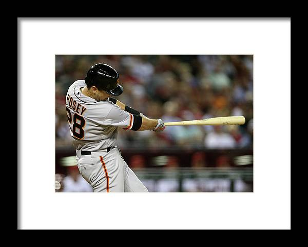 Ninth Inning Framed Print featuring the photograph Buster Posey by Christian Petersen