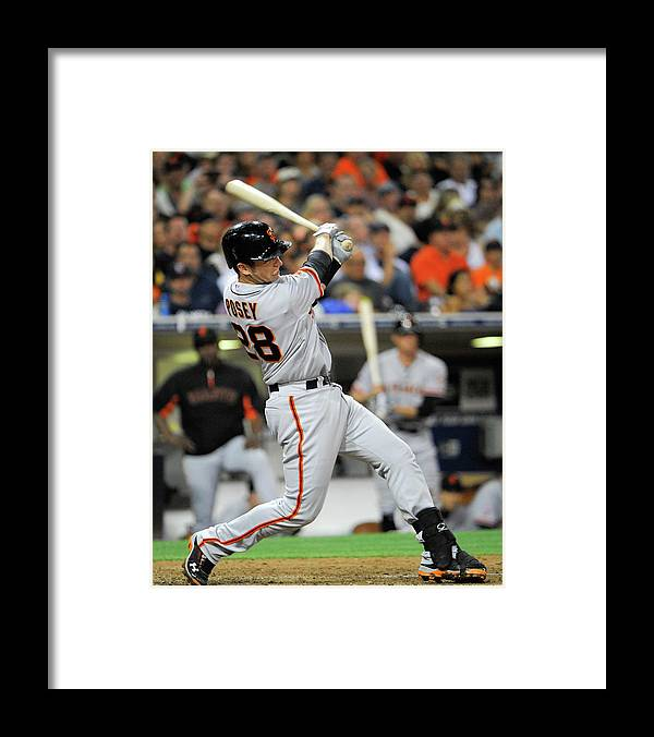 California Framed Print featuring the photograph Buster Posey by Denis Poroy