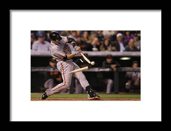 Double Play Framed Print featuring the photograph Buster Posey by Doug Pensinger