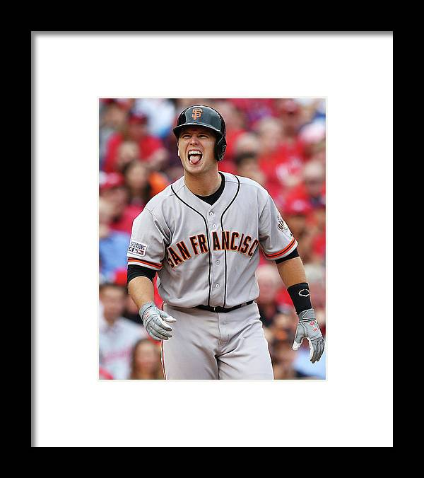 National League Baseball Framed Print featuring the photograph Buster Posey by Elsa
