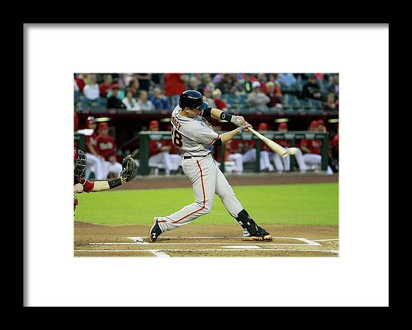 American League Baseball Framed Print featuring the photograph Buster Posey by Ralph Freso