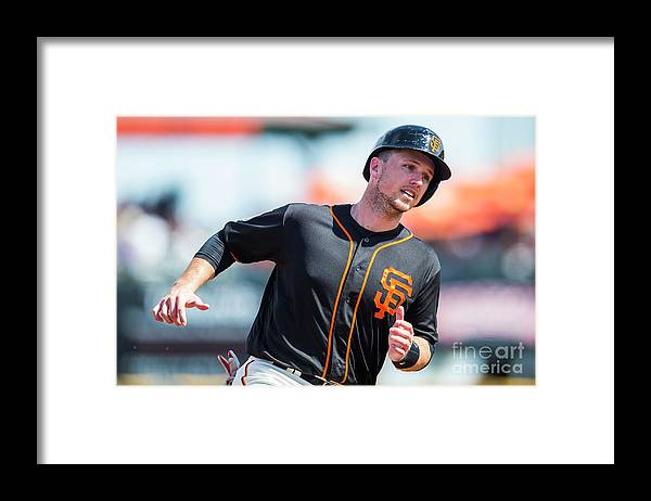 Three Quarter Length Framed Print featuring the photograph Buster Posey by Rob Tringali