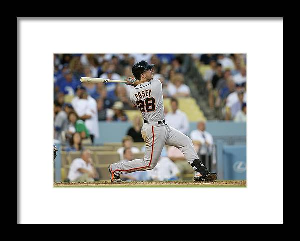 People Framed Print featuring the photograph Buster Posey by Stephen Dunn
