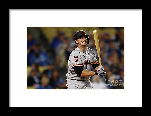 Three Quarter Length Framed Print featuring the photograph Buster Posey by Yong Teck Lim