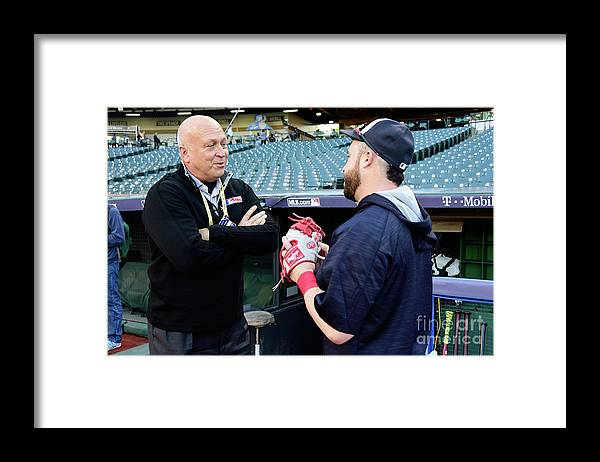 People Framed Print featuring the photograph Cal Ripken by Jason Miller