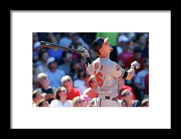 American League Baseball Framed Print featuring the photograph Caleb Joseph by Jim Rogash