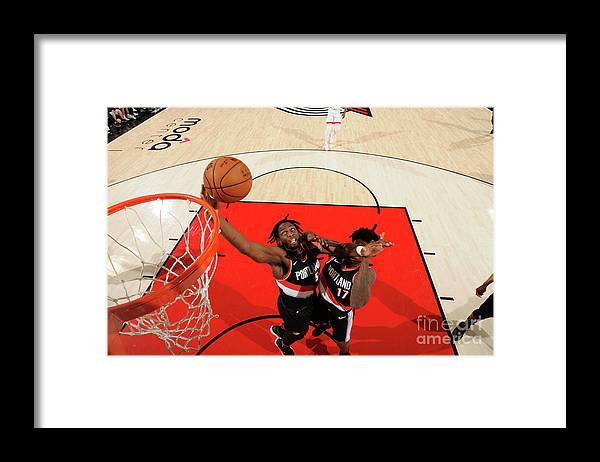 Nba Pro Basketball Framed Print featuring the photograph Caleb Swanigan by Cameron Browne