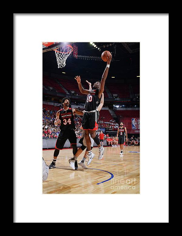 Nba Pro Basketball Framed Print featuring the photograph Caleb Swanigan by David Dow