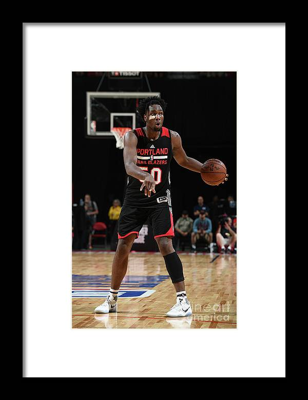 Nba Pro Basketball Framed Print featuring the photograph Caleb Swanigan by Garrett Ellwood