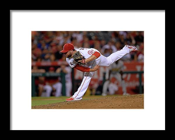 Ninth Inning Framed Print featuring the photograph Cam Bedrosian by Kevork Djansezian