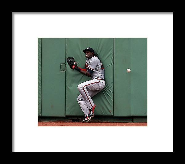People Framed Print featuring the photograph Cameron Maybin and Mookie Betts by Jim Rogash