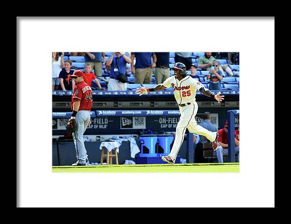 Atlanta Framed Print featuring the photograph Cameron Maybin by Daniel Shirey