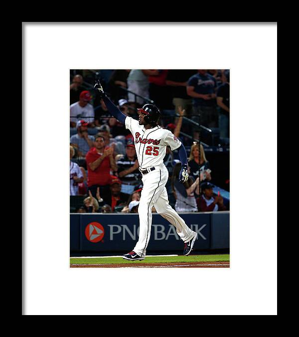 Atlanta Framed Print featuring the photograph Cameron Maybin by Kevin C. Cox