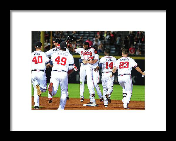 Atlanta Framed Print featuring the photograph Cameron Maybin by Scott Cunningham