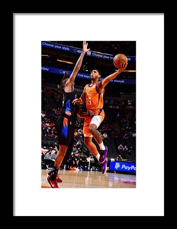 Nba Pro Basketball Framed Print featuring the photograph Cameron Payne by Barry Gossage