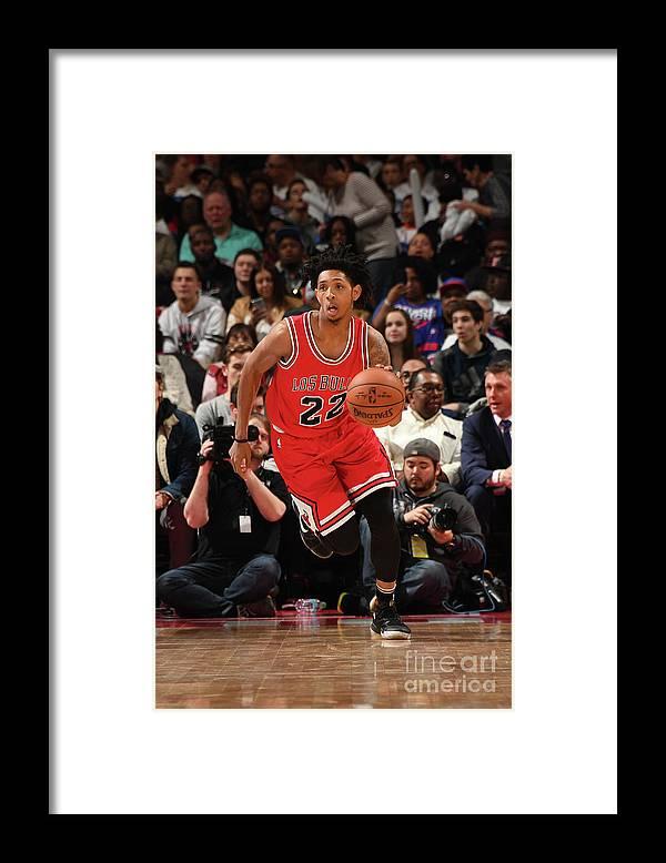 Nba Pro Basketball Framed Print featuring the photograph Cameron Payne by Chris Schwegler