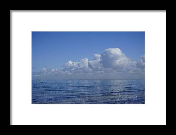 Clouds Framed Print featuring the photograph Candy Floss by Sandy Abbott