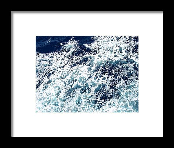 Waves Framed Print featuring the photograph Caribbean Waves by Michelle Miron-Rebbe