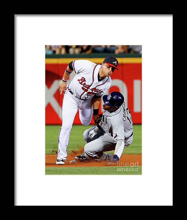 Atlanta Framed Print featuring the photograph Carl Crawford and Martin Prado by Kevin C. Cox
