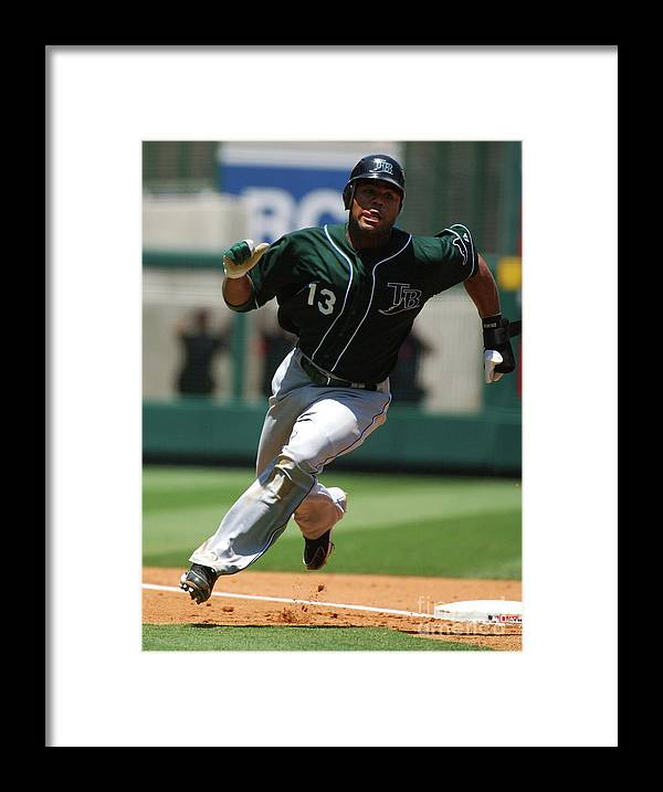 American League Baseball Framed Print featuring the photograph Carl Ray by Kirby Lee