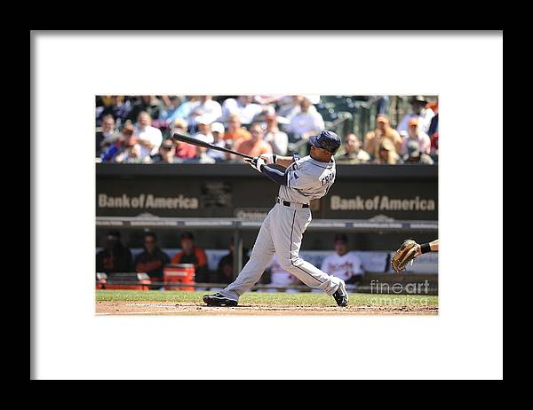 American League Baseball Framed Print featuring the photograph Carl Ray by Mitchell Layton