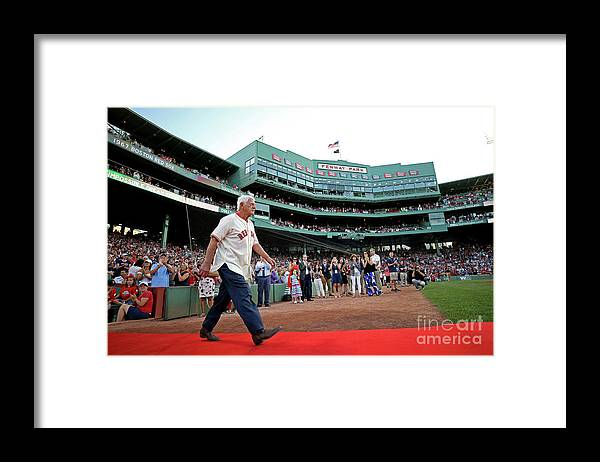 People Framed Print featuring the photograph Carl Yastrzemski by Maddie Meyer