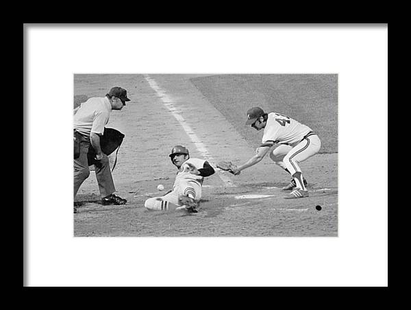 American League Baseball Framed Print featuring the photograph Carl Yastrzemski by Ronald C. Modra/sports Imagery