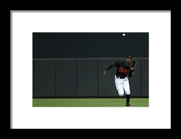 People Framed Print featuring the photograph Carlos Beltran and Adam Jones by Patrick Smith