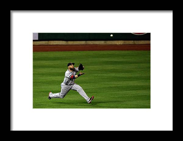 American League Baseball Framed Print featuring the photograph Carlos Beltran and Jonny Gomes by Jamie Squire