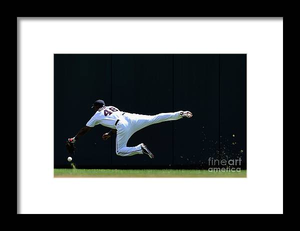 Second Inning Framed Print featuring the photograph Carlos Beltran and Torii Hunter by Hannah Foslien